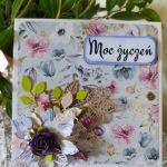 Kartka urodzinowa dla kobiety - Pudełko na kartkę