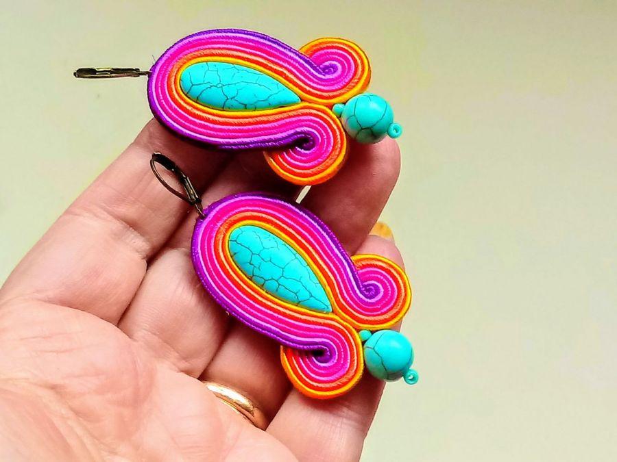 Kolczyki sutasz Multicolor - Bigle angielskie