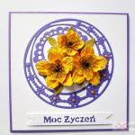 Kartka MOC ŻYCZEŃ z żółtymi kwiatami