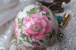 Bombka Różowe Kwiaty