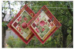 """Podkładki jesienne """"dalie"""", patchwork"""