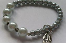 Szare perły - bransoletka