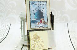 Notes na lodówkę -turkusowy czajniczek