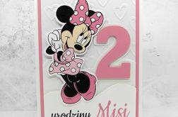Kartka na urodziny z Myszką Minnie UDP 006
