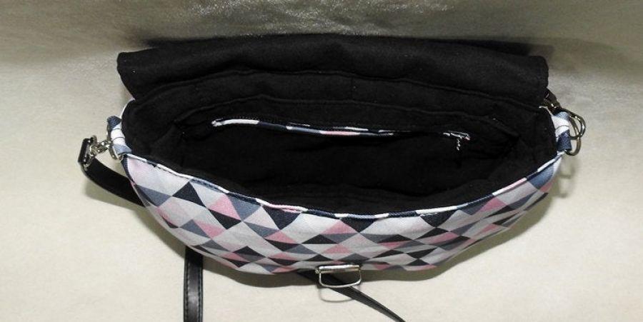 Listonoszka geometryczna, koktajlowa torebka