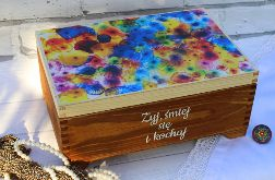 Ozdobny kufer z przegródkami, na biżuterię, prezent