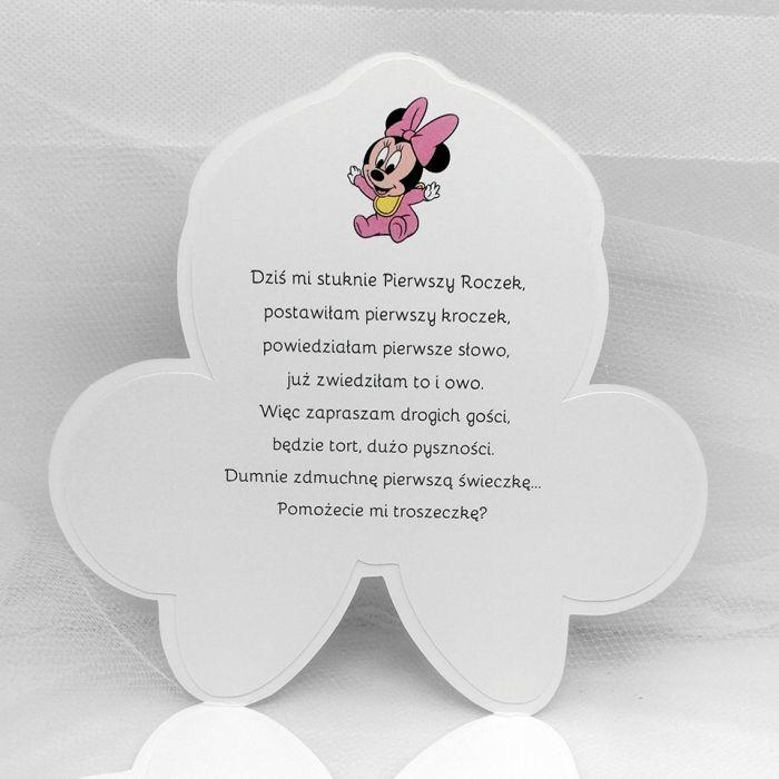 Zaproszenia dla dziewczynki z Myszką Minnie ZUD 006 - Zaproszenia dla dziewczynki z Myszką Minnie (3)