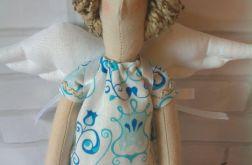 Anioł Tilda niebieski (na zamówienie)