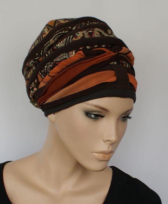 lekki turban TURECKI - szarfa zamotana wokół głowy