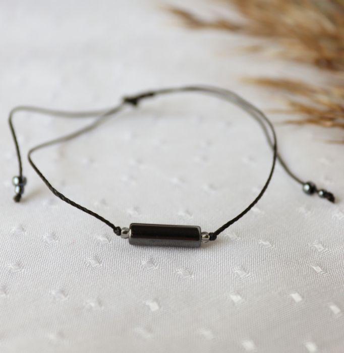 Czarna bransoletka z hematytem