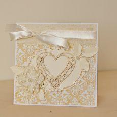 Kartka ślubna w kopercie  z sercem