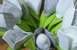 Ręcznie robione kwiaty z materiału (cena szt)