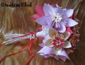 Bukiet z papierowych kwatów - kusudama