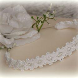 ozdoba ślubna sutasz  na głowę