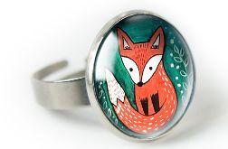Lis pierścionek z ilustracją