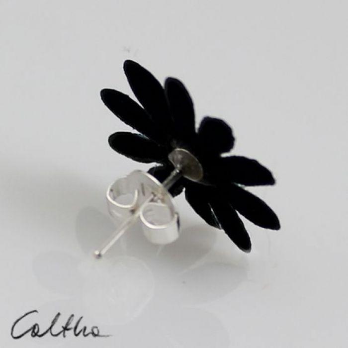 Kwiatuszki z kryształkiem - kolczyki - Kolczyki sztyfty
