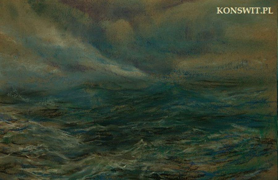 Obraz Pejzaż nad Wisłą - Pejzaż morski