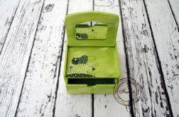 zielona toaletka z kotem