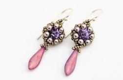 Kolczyki z kryształami Swarovski Violet