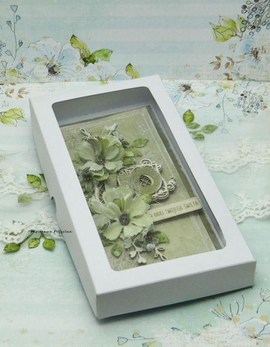 Komplet urodziny- kartka+pudełko na wino - dla kobiety