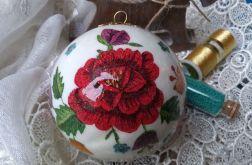Bombka Ludowe Kwiaty 8cm