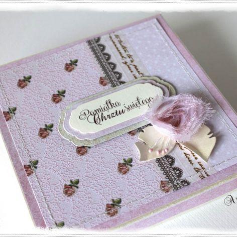 Kartka w pudełku na Chrzest św.