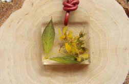 """Naszyjnik """"Zdobiona naturą - żółty kwiat"""""""