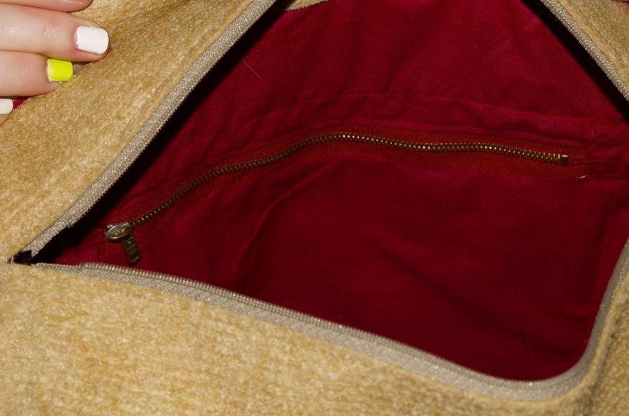 SwS TOREBKI Oryginalna torebka na ramię - Torba wewnątrz - kieszeń większa na suwak