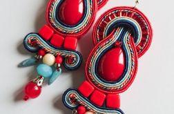 Czerwone kolczyki z kryształkami