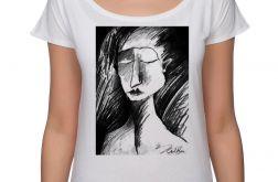 Szkic - koszulka oversize - biała