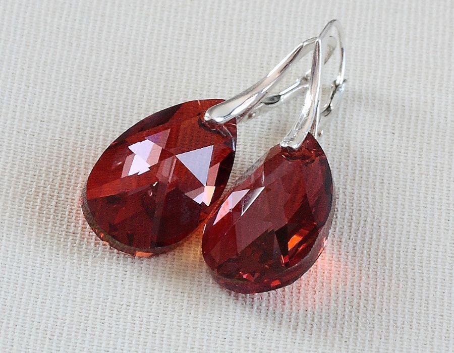 Red Magma - kolczyki - czerwone kolczyki