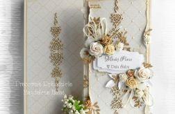 Kartka bogato zdobiona z ornamentem
