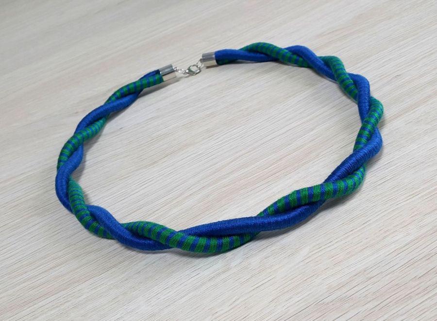 """Naszyjnik twist """"sapphire & green"""""""