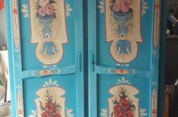 szafa recznie malowana unikat ludowa turkus