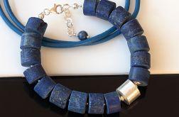 Lapis lazuli krążki - bransoletka