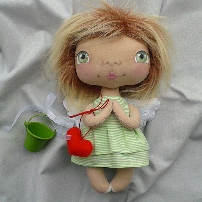 ANIOŁEK lalka - dekoracja tekstylna, OOAK/28