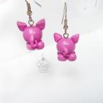 Kolczyki - różowe świnki
