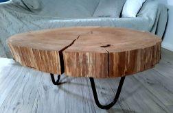 Stolik dębowy z plastra drewna 2
