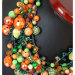 4401 naszyjnik kolia zielony pomarańczowy