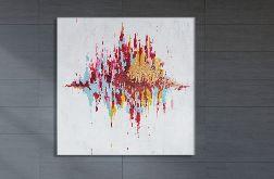 """Duży obraz akryl """"Wyspa"""" 100x100cm"""