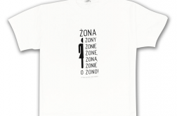 damskie L -koszulka z napisami-Żona