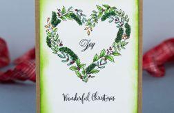 Kartka świąteczna z sercem 1
