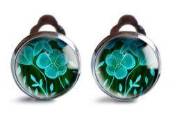 Green flowers klipsy z ilustracją