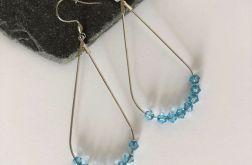 Kolczyki z oryginalnymi kryształkami Swarovskiego. Bicone. Light Blue