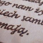 drewniany obrazek do przedpokoju - cytatt do przedpokoju