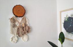 Łapacz snów handmade/plaster drewna/makrama/beż