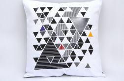 Poszewka na poduszkę - trójkąty2-bawełna