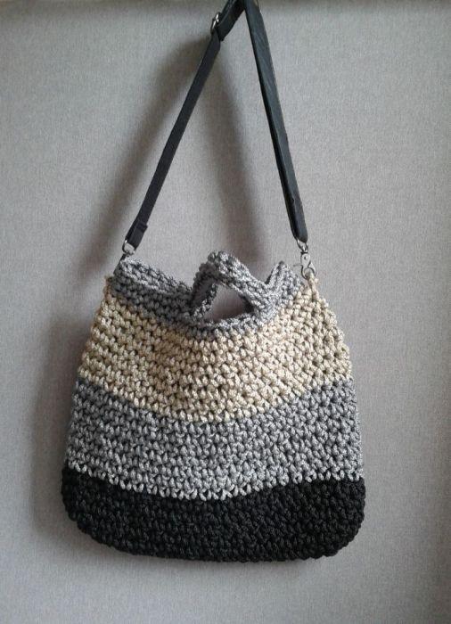 Szydełkowa torba,torebka trzy kolory