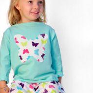 Miętowa bluza z motylami
