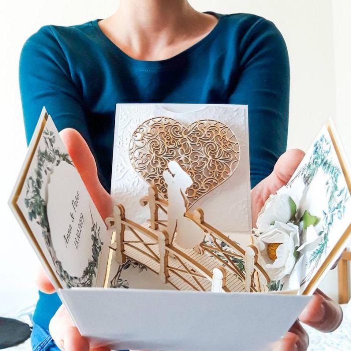 Kartki ślubne Exploding box ślubny #0003 - exploding box ślubny z imionami